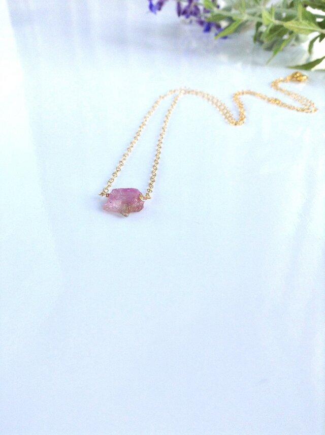 原石 ピンクタンザナイト momoiro一粒ネックレスの画像1枚目