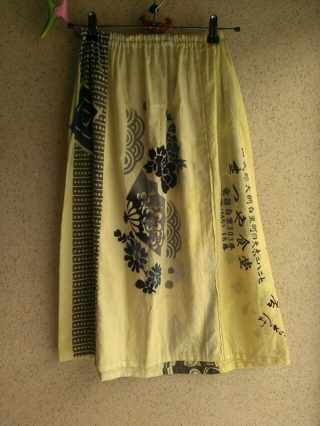 手ぬぐい染めスカート 150803-04の画像1枚目