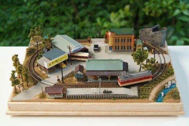 超小型レイアウト「山間の地方都市」Bトレ・鉄コレ12m級専用の画像1枚目