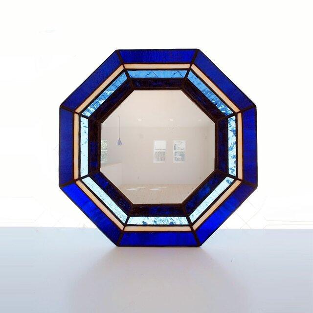 ステンドグラス八角ミラーの画像1枚目