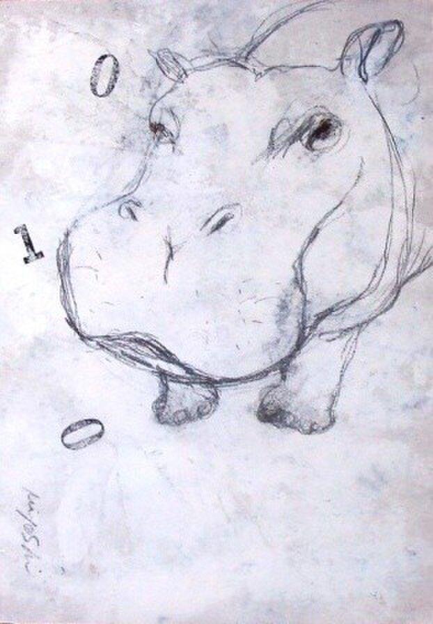 いちぶんのいちの・・・HIPPOPOTAMUSE(額装)の画像1枚目
