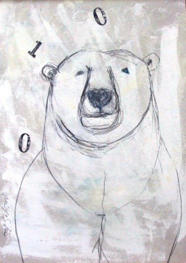 いちぶんのいちの・・・POLAR BEAR(額装)の画像1枚目