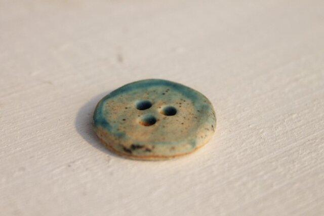 陶器のかわいいボタン 海色1の画像1枚目