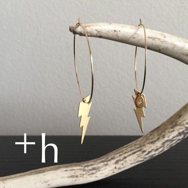 【ピアス】 Lightning pierced earringsの画像1枚目