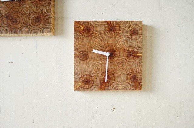 木の壁掛け時計/No.5 ヒノキの画像1枚目