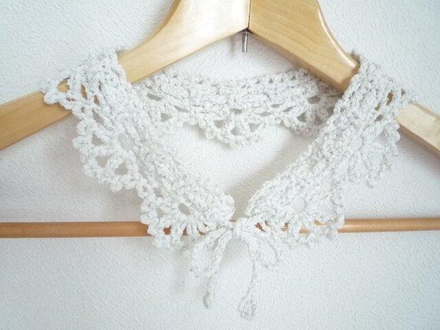 ホワイトラメのつけ襟の画像1枚目