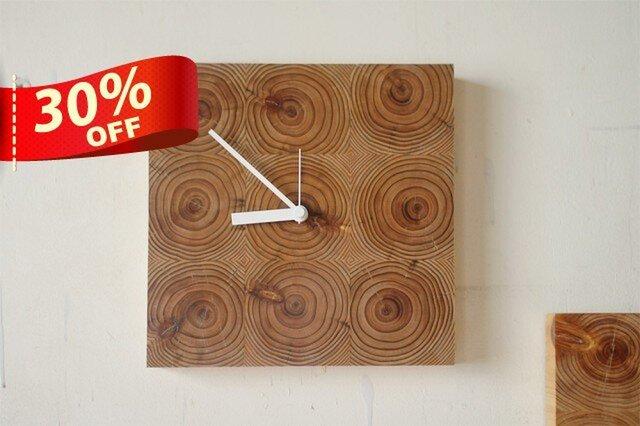 木の壁掛け時計/No.6 スギの画像1枚目