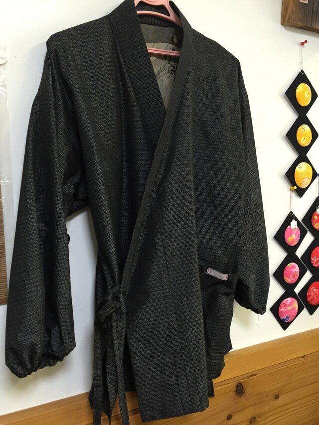 着物で作る☆作務衣 男性用 大島の画像1枚目