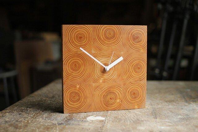 木の壁掛け時計/No.11 ヒノキの画像1枚目