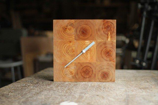 木の壁掛け時計/No.12 ヒノキの画像1枚目