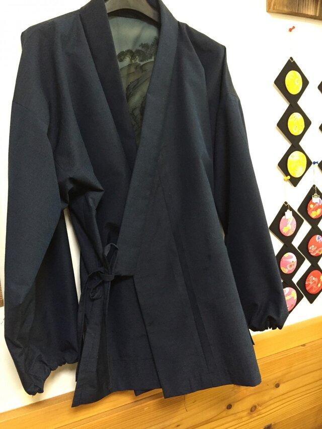 着物で作る☆作務衣 男性用の画像1枚目