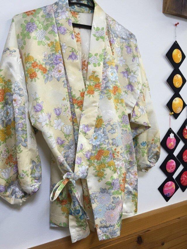 着物で作る☆作務衣の画像1枚目