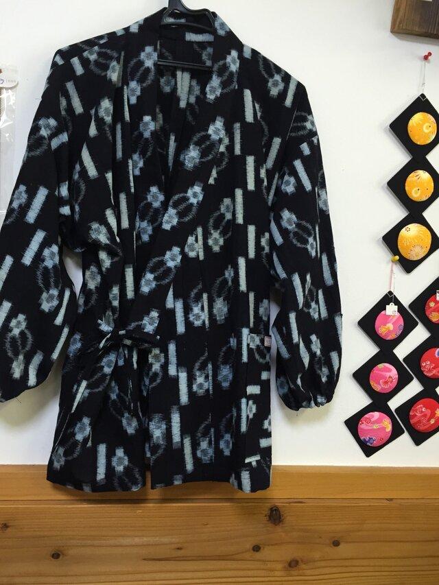 着物で作る☆作務衣 絣の画像1枚目