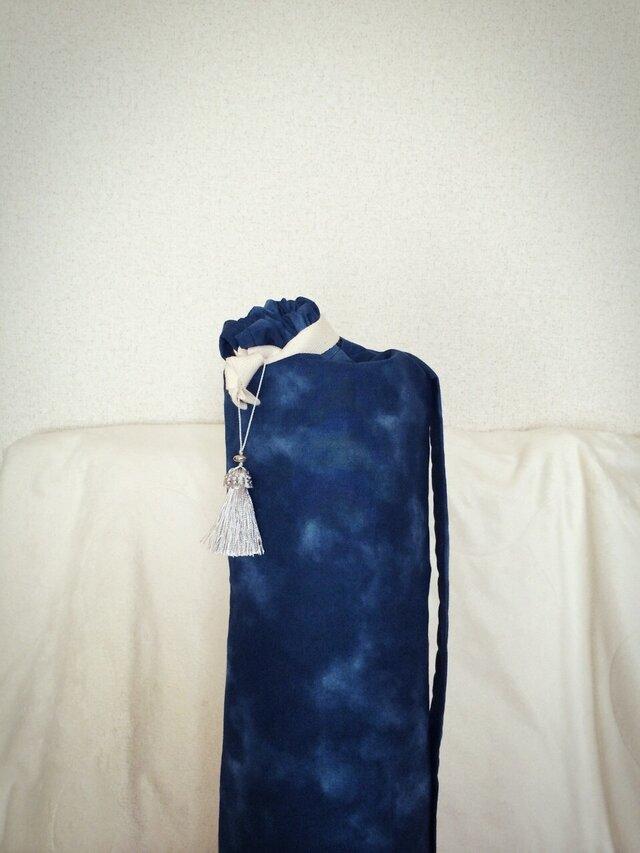 ☆ユニセックス ダイダイ柄のヨガマットケース ネイビー Mサイズの画像1枚目