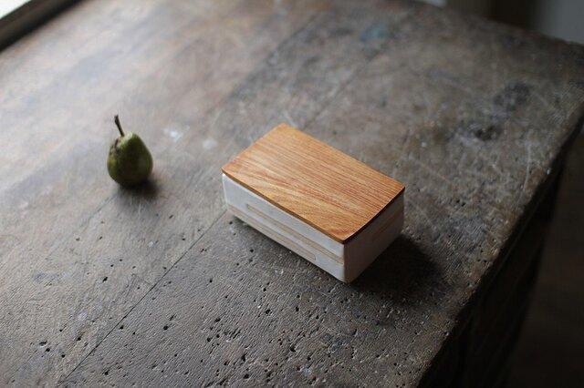 バターケース No.35 / ケヤキの木と陶器の画像1枚目