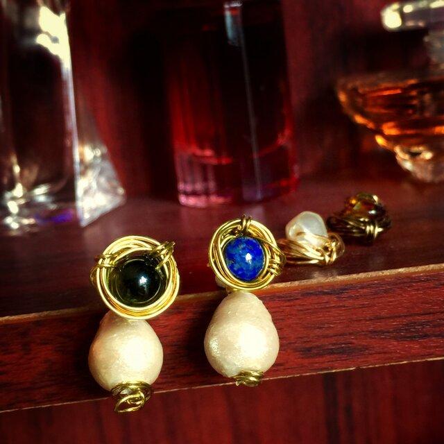 【noilmok】Lady pearl~パリジェンヌパールピアス~の画像1枚目