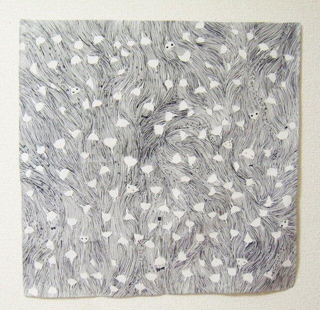 つくもおうじょ つながるおもい 綿ブロードハンカチの画像1枚目
