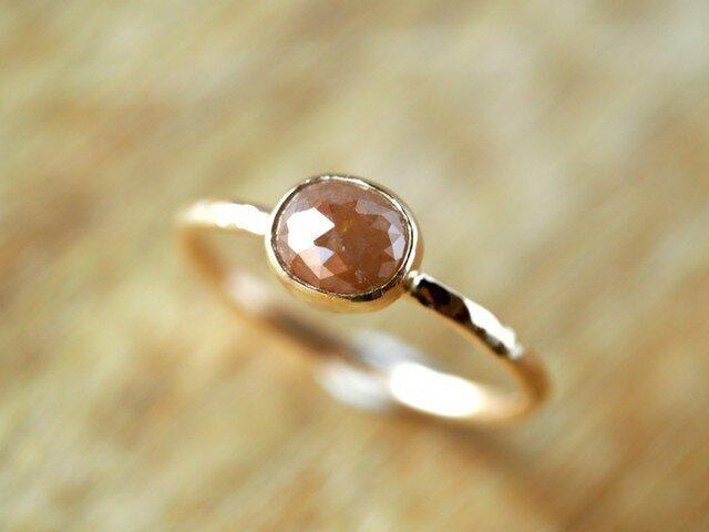 Toffee Oval Diamond ringの画像1枚目
