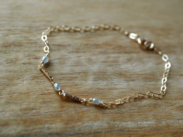 Diamond Bar Braceletの画像1枚目