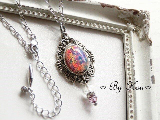 ∽*Pink Opal*∽*・*。優秋・*。V.ネックレス。の画像1枚目