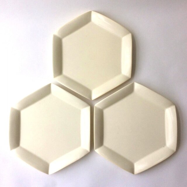 六角花皿 (大)の画像1枚目