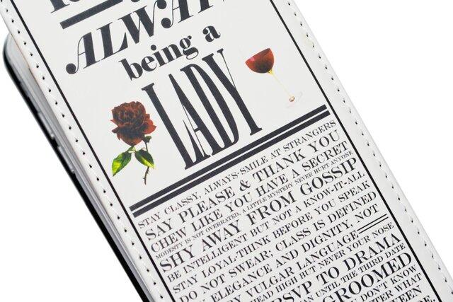 《レター&LADY》 iPhone6 手帳型 フラップタイプの画像1枚目
