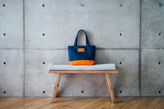 倉敷帆布製トートバッグ(オレンジ)の画像1枚目
