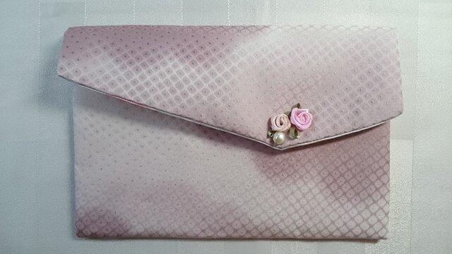 ♪着物生地で作ったふくさ24ピンクの画像1枚目