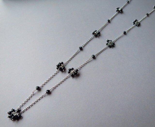 SV   Onyx・Black spinel Necklaceの画像1枚目