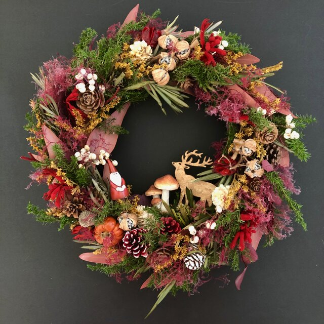 """Winter wreath """"In the Forest""""の画像1枚目"""