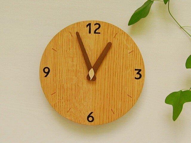直径20cm 掛け時計 オーク【1532】の画像1枚目