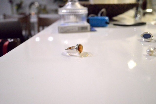 Oval Amber Ringの画像1枚目