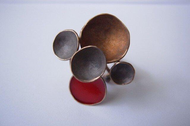Ring -bronze, enamel #001の画像1枚目