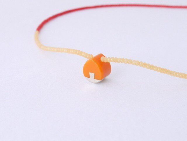 ネックレス Drop mini   Orange S02の画像1枚目