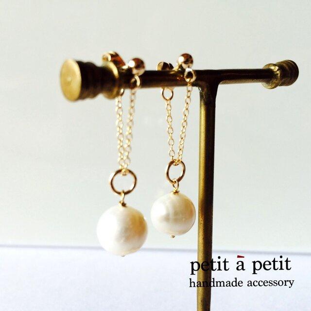 *14kgf chain pearl pierce np1504の画像1枚目