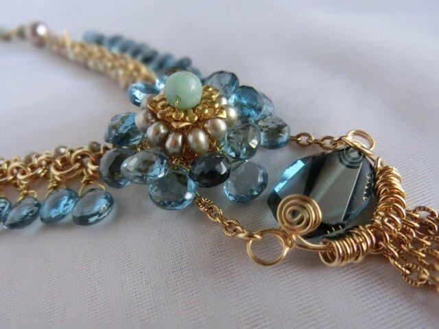 Aqua Blue ネックレスの画像1枚目