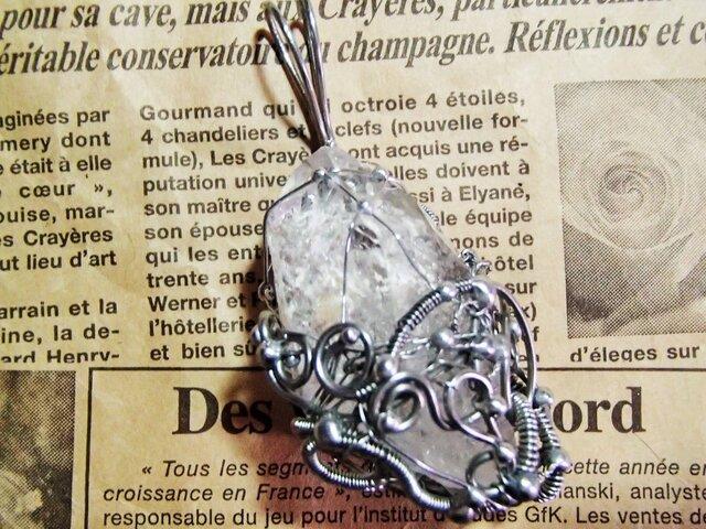 珍品/レインボー入りセルフヒールレコードキーパーウインドウ水晶の画像1枚目
