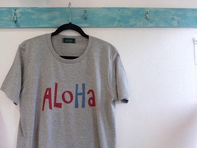alookonbooks aloha rogo Teeの画像1枚目