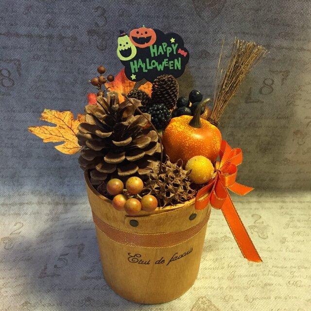 パンプキンと木の実のハロウィンアレンジ Mの画像1枚目
