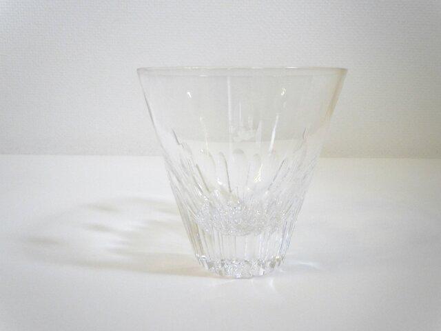 切子グラス プルメリア(クリア)の画像1枚目