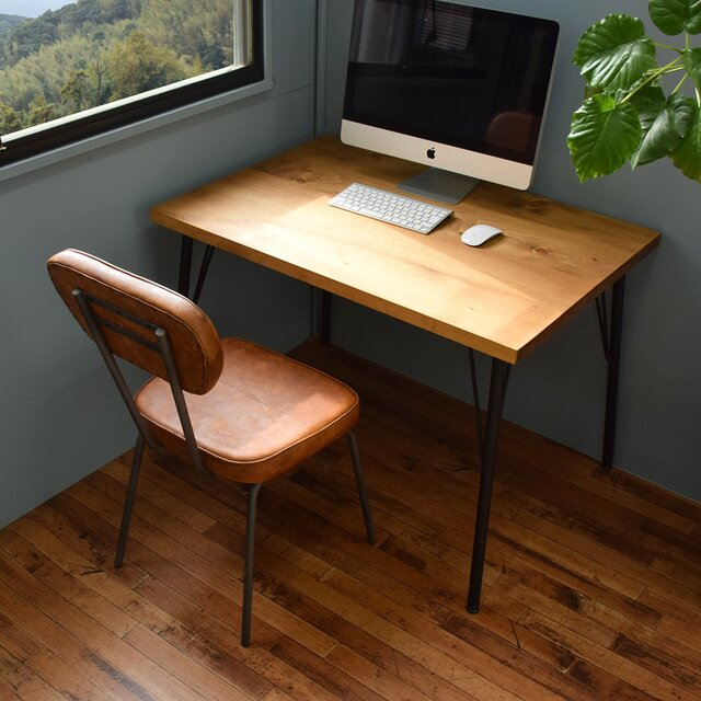 90×60cm カフェテーブル アイアン脚 CT90-3の画像1枚目