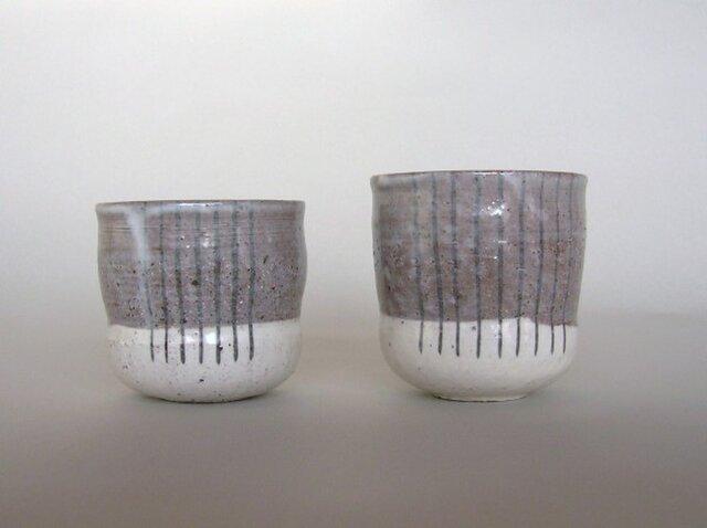 湯呑み陶器①下粉引き(中)左の画像1枚目