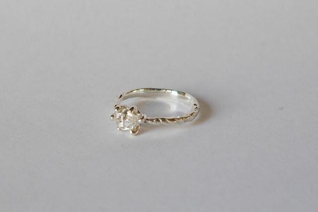 再販★Herkimer diamond ring(sv)ハーキマーの画像1枚目