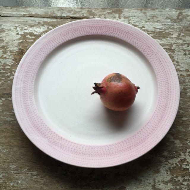 ピンクの点々プレートの画像1枚目