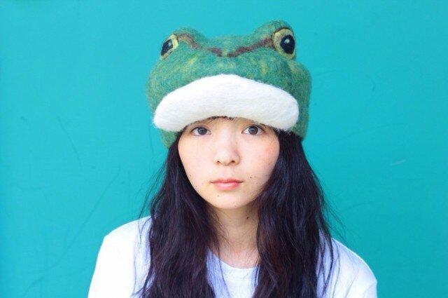 アマガエルのハンチング帽子の画像1枚目