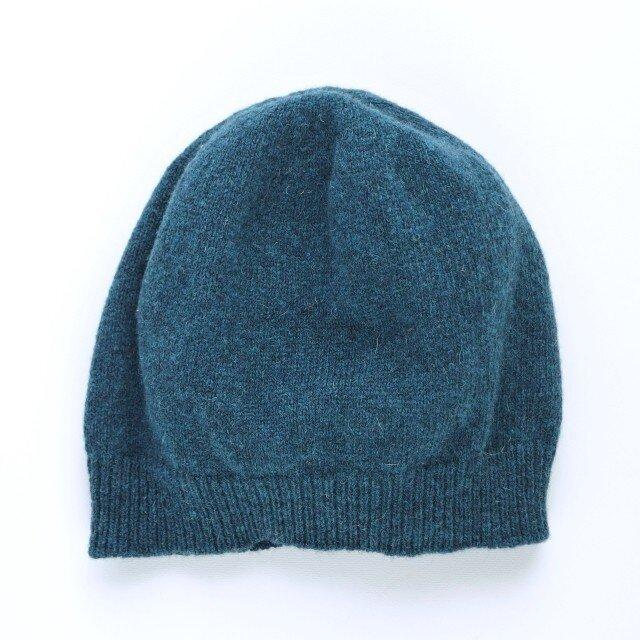 ネイビーのニット帽の画像1枚目