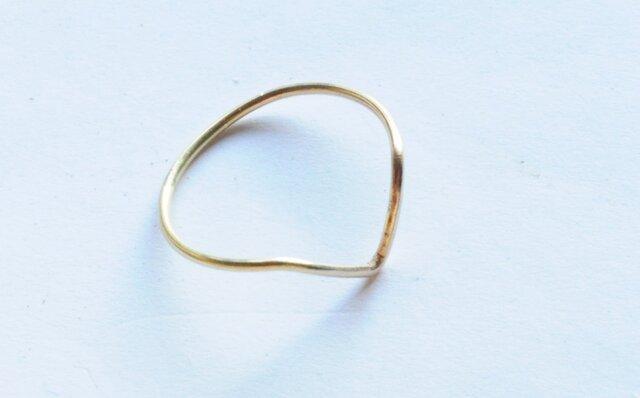 deep V shape ring k18の画像1枚目