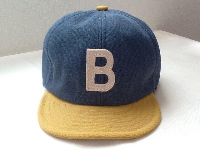再販:アルファベットキャップ 帆布シリーズ 『B』の画像1枚目