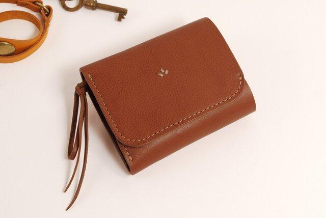 財布 wrap-S [ブラウン]の画像1枚目