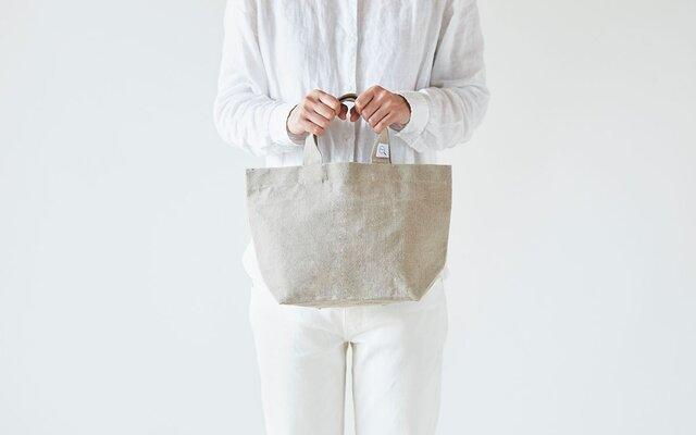 リネン帆布のトートバッグ(S)の画像1枚目